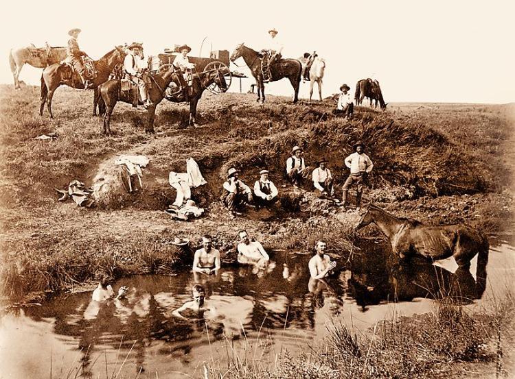 cowboys-bathing