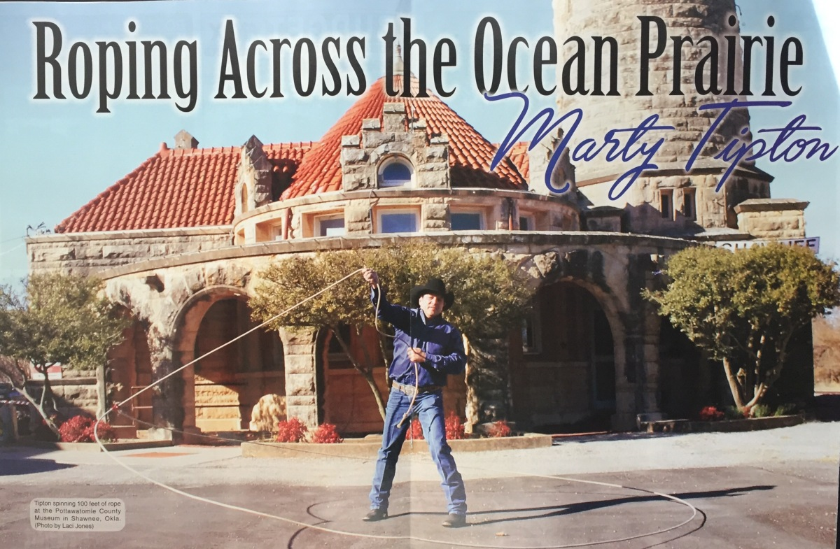 "Oklahoma Farm and Ranch Magazine ""Roping across the Ocean Prairie"" April Issue Article,  By Laci Jones"